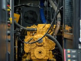 Silnik Liebherr przygotowany do hamowania